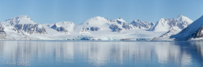 The Monacobreen in Liefdefjord, Spitsbergen in springtime
