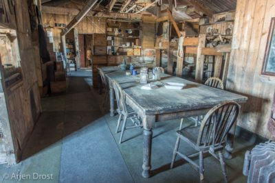 The inside of Scott's Terra Nova Hut still looks the same as when he left over 100 years ago for his quest for the South Pole.