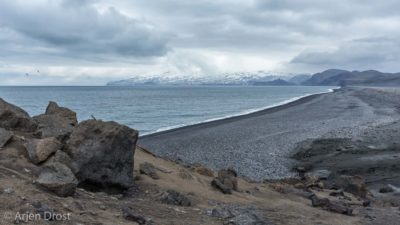 Black lava beach on Jan Mayen