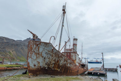 Whaling vessel Petrel, wrecked in Grytviken, South Georgia