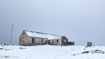 Old scientific base at Horseshoe Island, Antarctica