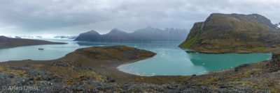 Lillihookfjord, seen from Signehamna, Spitsbergen
